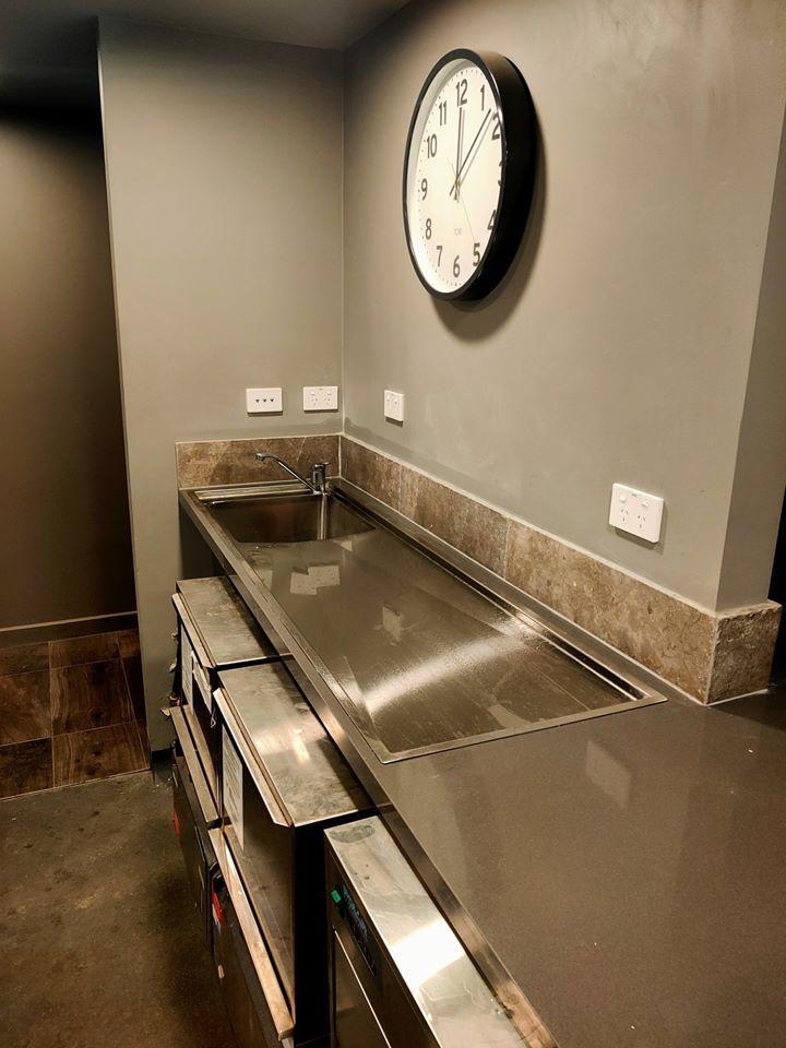 New Sink in bars wet area.