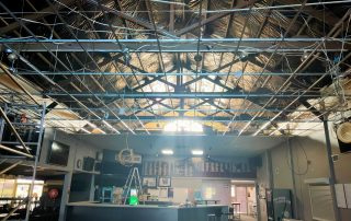 TAB ceiling removal